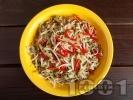 Рецепта Салата от соеви кълнове, краставица и чушки